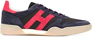 Luxury Fashion   Hogan Men HXM3570AC40N3I50BV Blue Suede Sneakers   Spring-summer 20