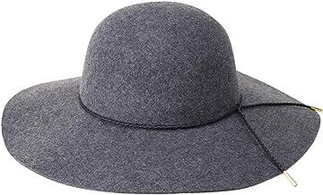 Lanzom Women Lady Retro Wide Brim Floppy Panama Hat Belt Wool Fedora Hat