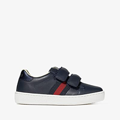 Gucci Kids New Ace V.L. Sneakers (Toddler) (Blue) Kids Shoes