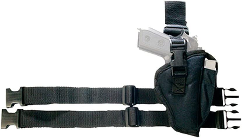 Bulldog Cases Right Hand Black Tactical Leg Holster (Fits Most C