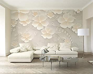 Buy Avikalp Exclusive Awz0303 3d Wallpaper Beige Flowers 3d Bedroom Tv Interior Design Decoration Background Hd 3d Wallpaper 396cm X 304cm Online At Low Prices In India Amazon In