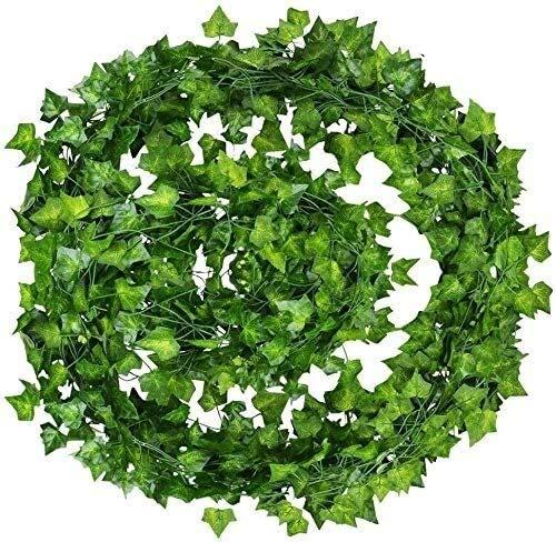 Künstliches Blatt Efeu Garland Pflanzen Rebe Gefälschte Laub Blumen Wohnkultur Evergreen Dekoration Süßkartoffel Blatt (12 Stück)