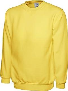 77aa59ad Uneek UC203 Men Adults Crew Neck Stylish Casual Classic Sweatshirt XS-2XL