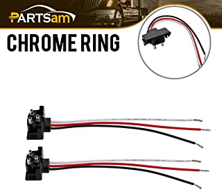 3 Prong Pigtail Wire Plugs for Truck Trailer Bus Boat RV Stop Turn Tail Lights 2pcs