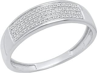 mens micro pave diamond rings