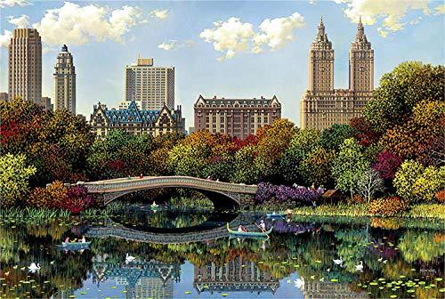 Adult Jigsaw New York Central Park Juego de Rompecabezas de 3000 Piezas para niños en Edad Preescolar Que aprenden educación Familiar
