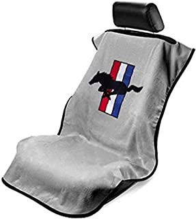 Seat Armour SA100MUSG Mustang Pony Grey Seat Protector Towel, 1 Pack