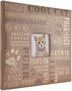 MCS MBI 13.5x12.5 Inch Cool Cat Pet Theme Scrapbook Album with 12x12 Inch Pages with Photo Opening (860124)