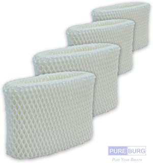 Pureburg 4-Pack Replacement Humidifier Wick Filters for Honeywell HAC-504 HAC-504AW HAC504V1 Filter A Fits HCM-350 HEV355 HCM-710 HCM-315 HEV312 HCM-300 HCM-500 HCM-700 HCM-1000 and More