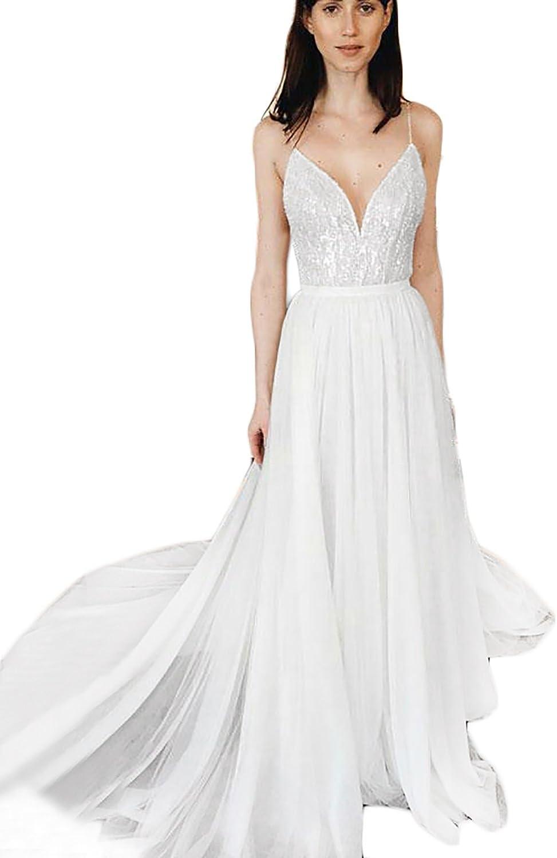 YIRENWANSHA Sexy Wedding Dresses 2018 Beaded Spaghetti Strap Mermaid Prom Dress Formal Ball Gown H031