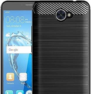 Muntonski Compatible with Huawei Ascend XT2 / Elate 4G LTE / H1711 Phone Case Slim Thin TPU Protective Carbon Fiber Ascend XT 2 / Elate 4G / H1711 Cover 5.5 Inch (Black)