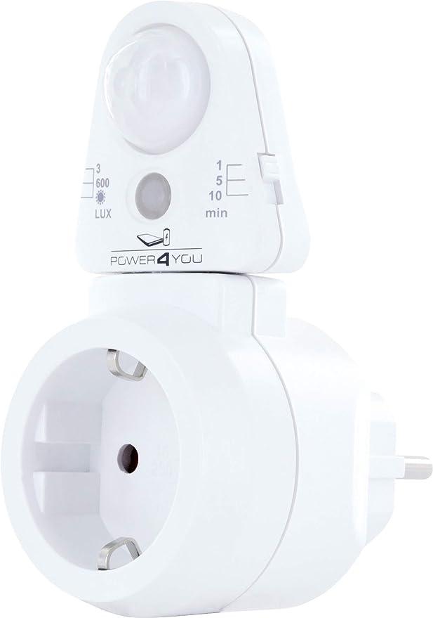 86 opinioni per SCHWAIGER -661552- Presa intermedia con sensore di luce PIR sensore di movimento