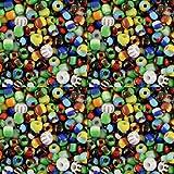 Sadingo - Juego de perlas para pulseras (3 mm, 10.000 unidades), color blanco