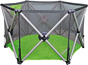 Relaxbx Baby Fence  Foldable Baby Park Fence  Home Indoor Durable Safety Toddler Crawling Fence Portable Children Indoor Outdoor Playground  Color  Green