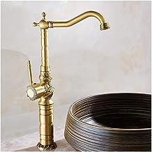 Bathroom Faucet, Sink Faucet Full Copper Black Bronze European Glass Ceramic Spool Nickel-free Polishing Lead-free Basin F...