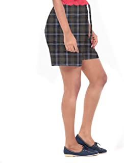 EASY 2 WEAR ® Women Cotton Checks Shorts - XS to 4XL - Comfort and Relaxed Fit.