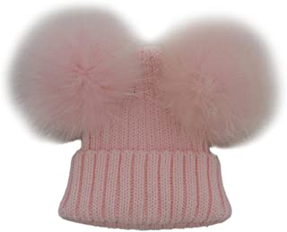 MIOIM Toddler Baby Knit Hat Winter Warm Beanie Cap with Pom Pom Crochet Hat