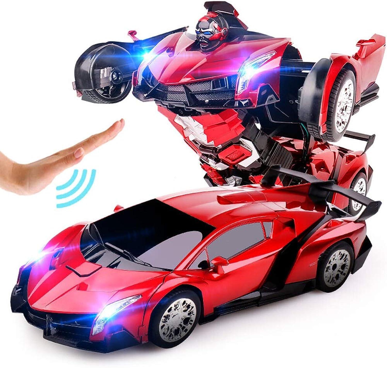 Pinjeer Ein-Knopf Deformation Fernsteuerungsauto-König-Kong-Roboter-Gesten-Induktions-Verformungs-Elektrische Aufladungs-Spielzeug-Auto-Geschenke für Kinder 6+ B07GFPH6FH Lebensecht    Sofortige Lieferung