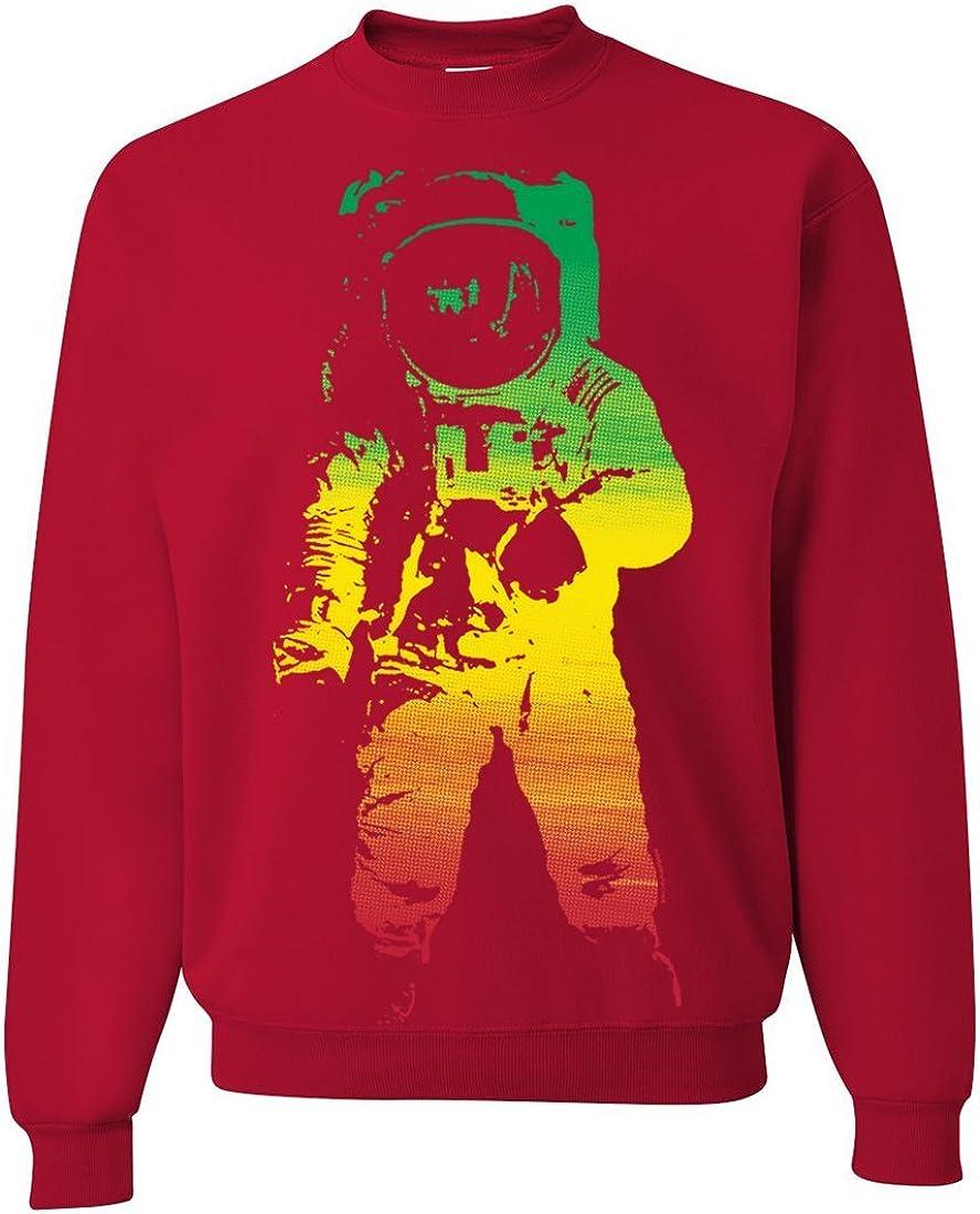 Space 25% OFF Credence Astronaut Man on The Rasta Moon Sweatshirt Crewneck