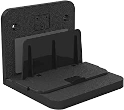 Adjustable Universal Small Device Wall Mount, YIHUNION Bracket for Android Apple TV Box Cable Digital Media Players Modems Router Streaming Media Devices Hard Driver (Black)