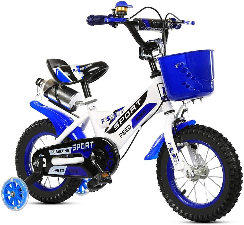 descuento online ZLMI Bicicleta para Niños, Cochecito Infantil de de de 14 Pulgadas Hombres y Mujeres de 3 a 6 años Bebé Bicicleta de Cuatro Ruedas con Rueda Auxiliar de Flash  Precio por piso