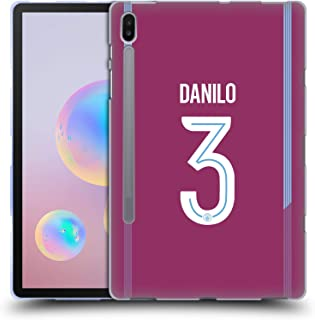 Official Manchester City Man City FC Danilo 2017/18 Players Away Kit Group 2 Soft Gel Case Compatible for Samsung Galaxy Tab S6 (2019)