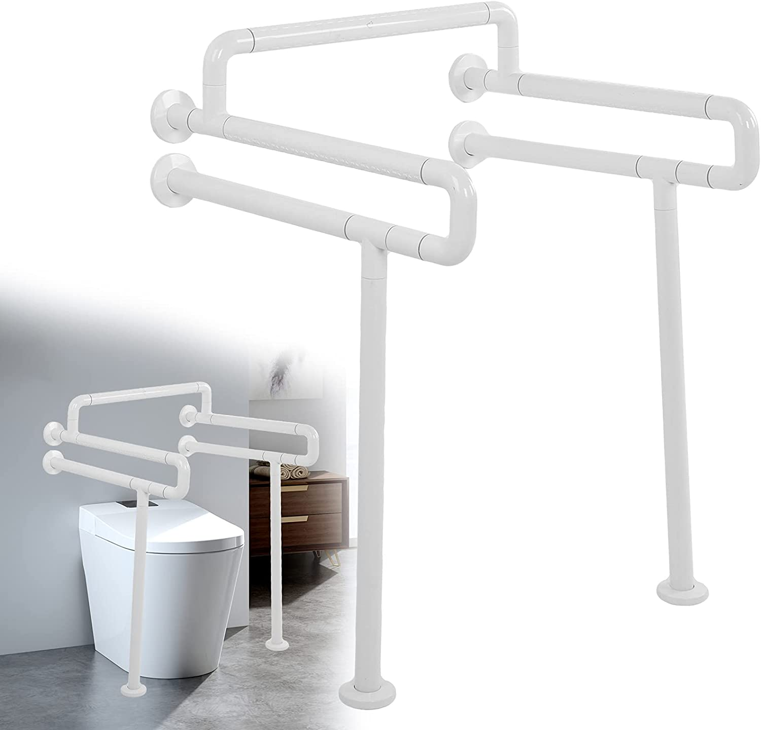 Toilet Frame Handles Safety Anti?Slip Bathroom Our shop most popular Steel Stainless Max 48% OFF