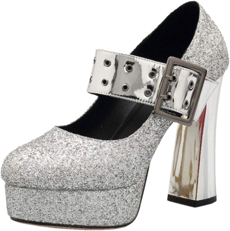 KemeKiss Women Platform Sandals Ankle Buckle shoes