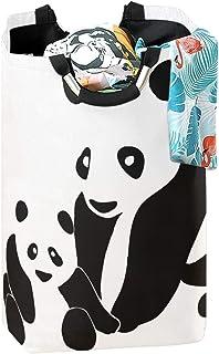 CaTaKu Panier à linge en forme de panda avec motif animal panda - Grande boîte de rangement imperméable et facile à transp...
