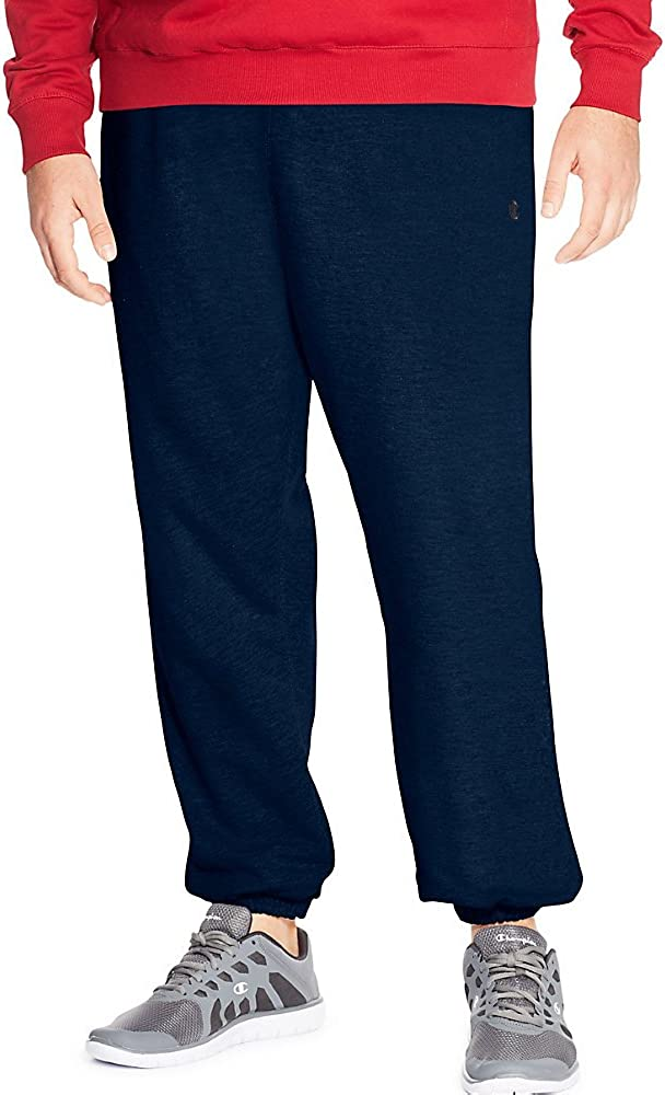 Champion Men's Big-Tall Fleece Pant, Navy, 4X/Tall