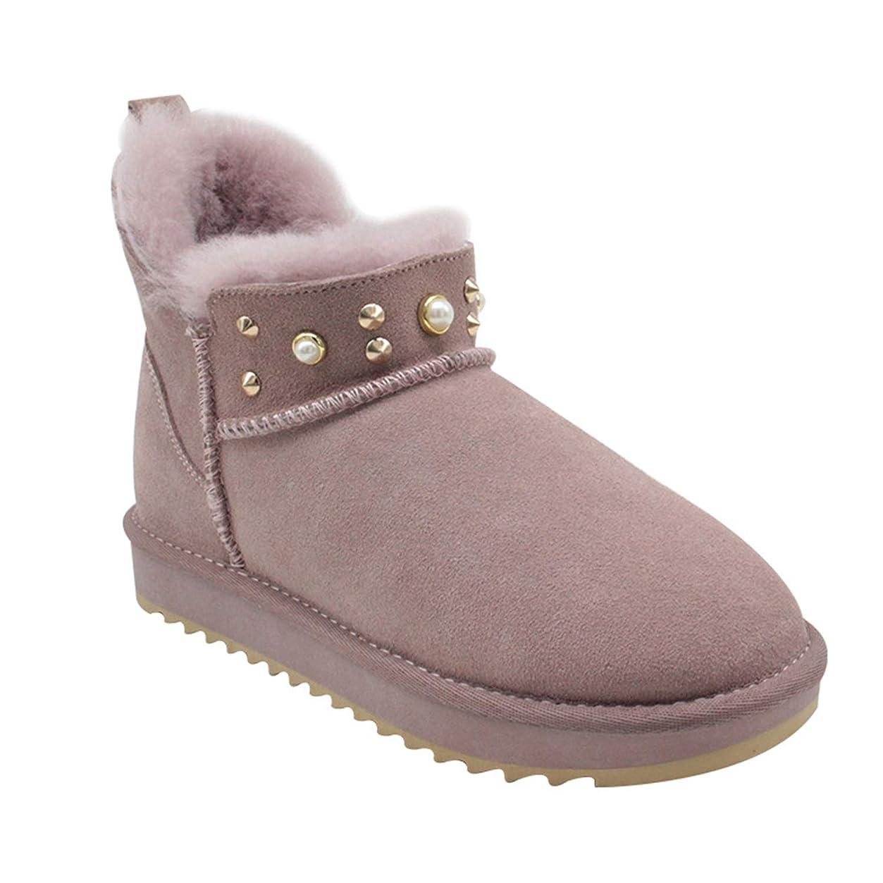 骨折信仰病気だと思う女性の冬の雪のブーツシンプルなファッションショートブロックアンチスリップのブーティー女性の女性のための理想的な室内の屋外活動の摩耗、女性の贈り物