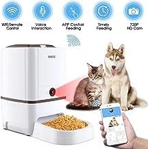 Iseebiz Comedero Automático Gatos/Perros con Cámara HD Dispensador de Comida WiFi con App Control ,Visión Nocturna 6litros