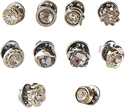 Adealink 10Pcs Prevent Accidental Exposure Buttons Brooch Pins Badge