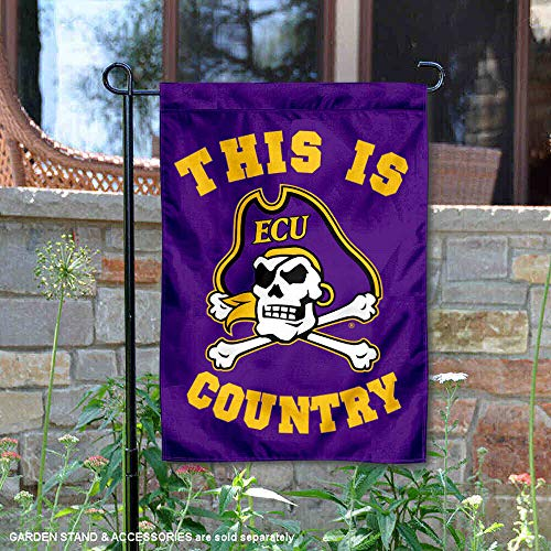 College Flags & Banners Co. East Carolina Pirates This is Pirates Country Garden Flag