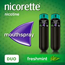 Nicorette QuickMist Mouth Spray, Freshmint, 1 mg, Duo Pack (Stop Smoking Aid)