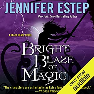 Bright Blaze of Magic audiobook cover art