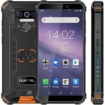 Móvil Resistente,OUKITEL WP5 Telefono Movil Antigolpes Batería Grande de 8000 mAh, 5.5 Pulgadas,3GB RAM + 32GB ROM, Cámara Triple, Android 9.0 Smartphone con 4 Linternas LED Súper Brillantes-Naranja: Amazon.es: Electrónica