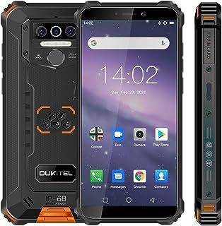 Móvil Resistente OUKITEL WP5 Telefono Movil Antigolpes Batería Grande de 8000 mAh 4GB RAM + 32GB ROM5.5 PulgadasCámara Triple Android 9.0 Smartphone con 4 Linternas LED Súper Brillantes-Naranja