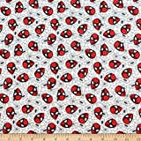 Marvel 0661220 Spider-Man Web Grey Fabric Stoff, Textil,