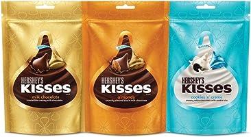 Kisses Hershey's Cookies n Creme, Almonds & Milk Chocolate, 100.8g (Pack of 3)