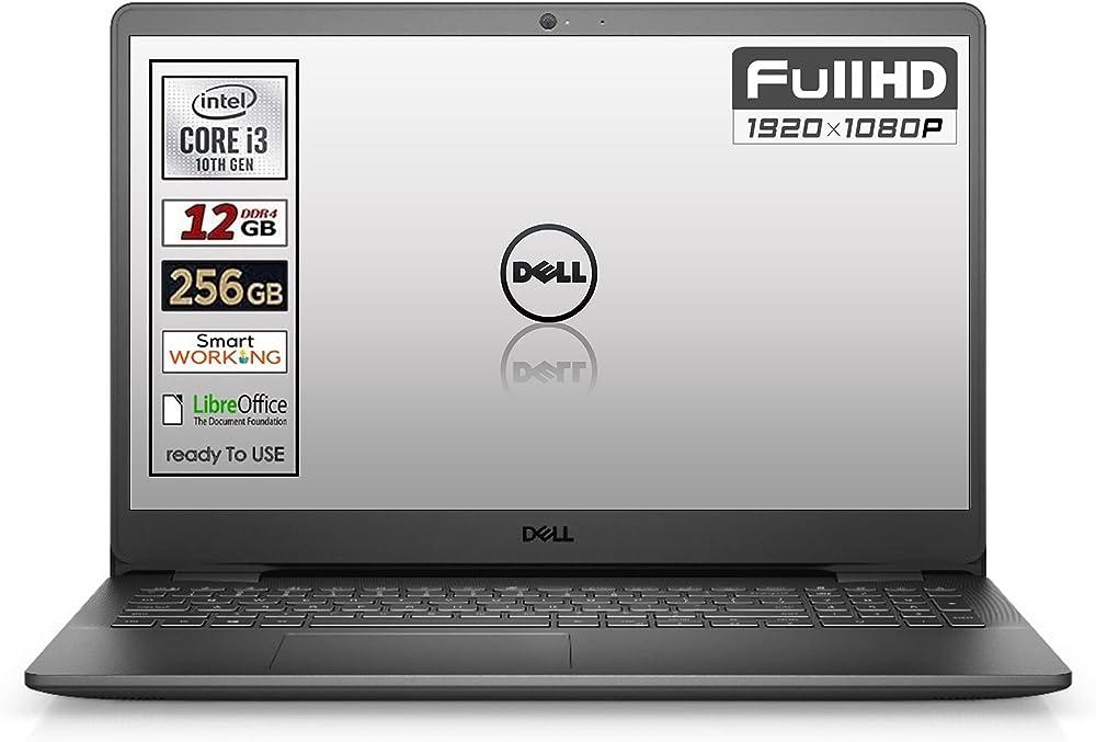 Dell notebook ssd 256 gb ram 12gb ddr4 win10 pro webcam intel core i3-1005g1
