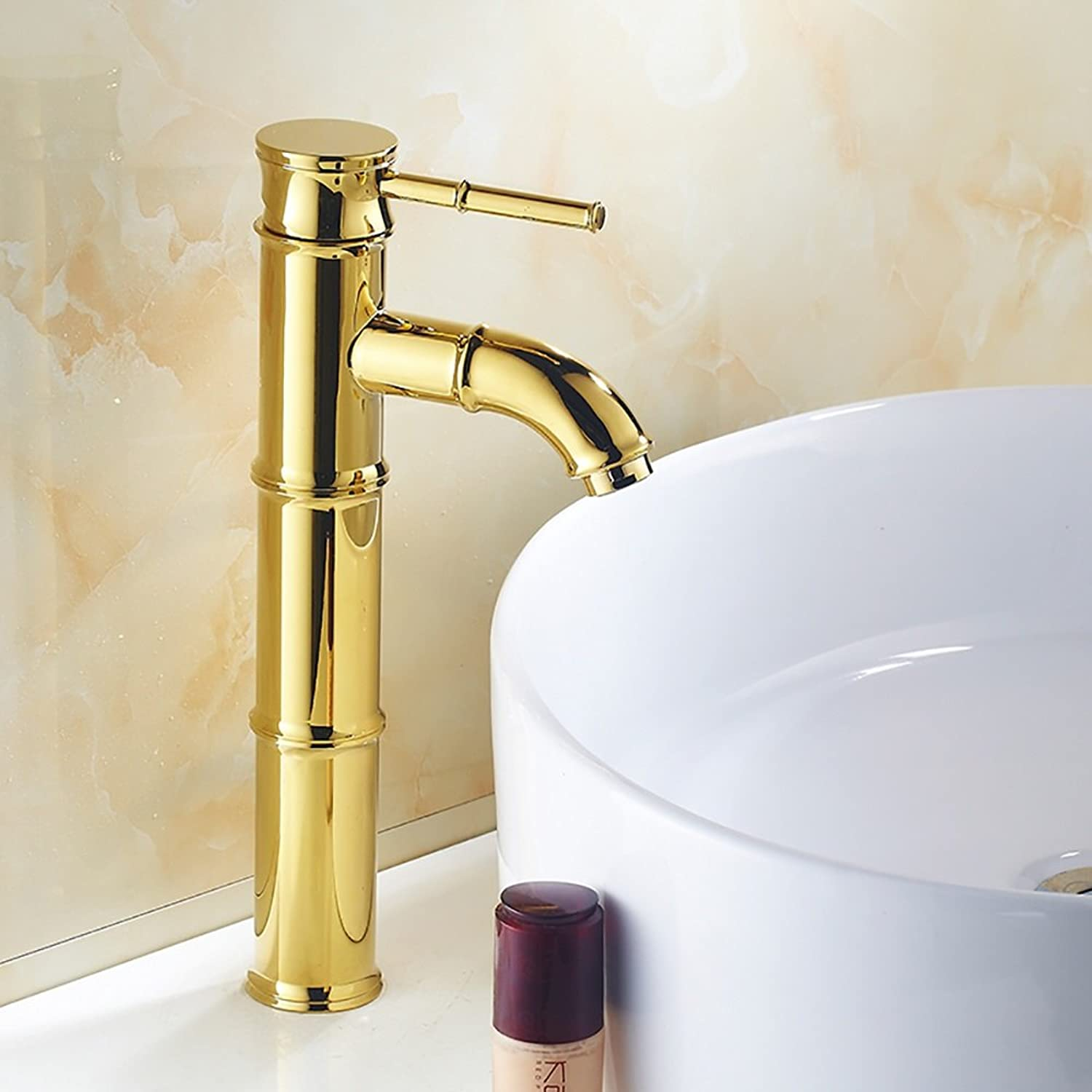 MEILING Plating gold Elbow Imitation Bamboo Hot And Cold Water Faucet
