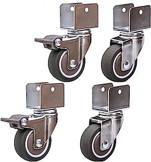 Htz 4pcs Furniture Casters Small Swivel Wheels, Replacement Castors Wheels,Moving Mute Wheels,1.25 Inch 32mm Rubber Castor...