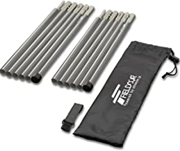 FIELDOOR Aluminum Tent Poles, 2 Sets Included, Diameter 0.6 inch (16 mm), Sectional Product, 7075 Aluminum Alloy, For Small Groups/Solo Campers, Supplementary Poles, Compact, For Tarp Tents
