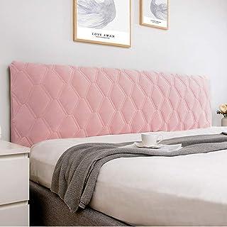 uyeoco Funda de Cabecero Cabeceros de Cama, Tejido de Terciopelo Suave, Funda Protectora para cabecero de Cama (Color : Pink, Size : 120cm)