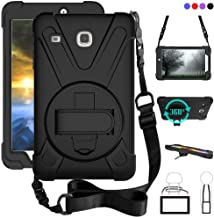 Galaxy Tab E 8.0 Case, 360 Degree Kickstand Dropproof High Impact Resistant Heavy Duty Armor Cover W/Hand Strap Handle Shoulder for Samsung SM-T377 SM-T377A / SM-T377V / SM-T377P