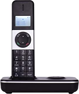 Aibecy LCD Display Digital Cordless Phone Telephone Support 16 Languages 5 Handsets Connection for Office Business Home Fa...
