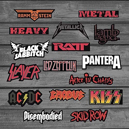 DADATU Aufkleber Rock & Roll Heavy Metal Punk Aufkleber Für Laptop Skateboard Motorrad Auto Gepäck Vinyl Aufkleber Graffiti wasserdichte Aufkleber