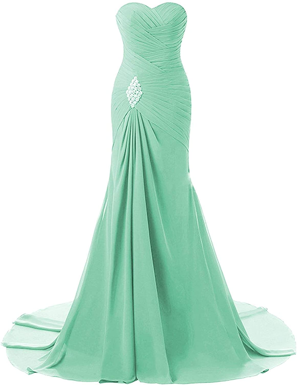 Sulidi Womens Sweetheart Mermaid Prom Bridesmaid Dresses 2018 Long Evening Formal Party Ball Gowns C247