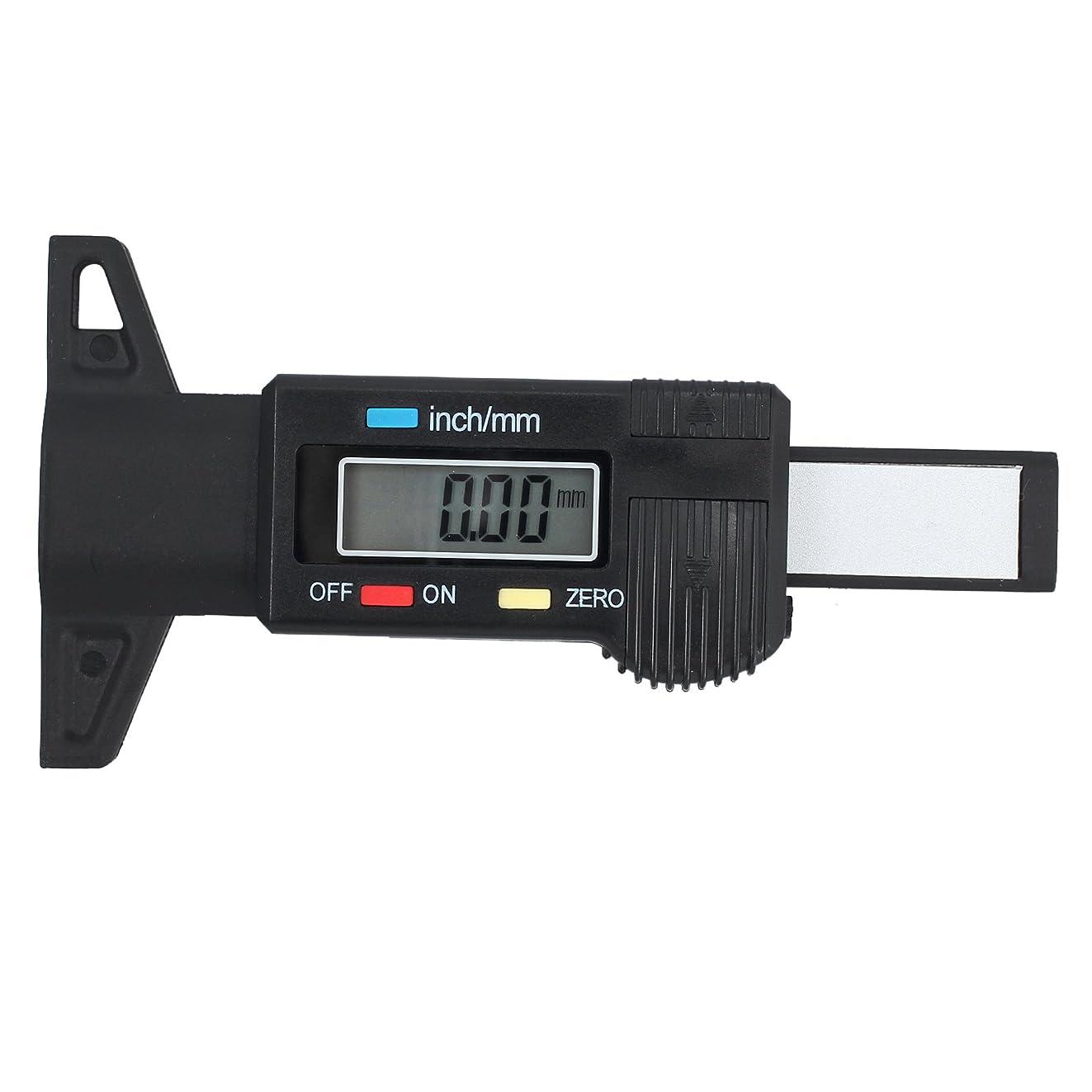 内訳ソースアサートProster 0.01mm デジタル デプスゲージ 0-25.4mm タイヤ溝 測定 タイヤデプスゲージ バッテリー付き 18ヶ月保証